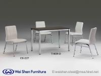 可堆叠椅、餐椅、餐桌、餐厅家具、时尚椅子、钢管家具