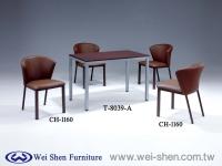 扇形椅、餐椅、餐桌、钢管家具、餐厅家具