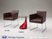 餐桌、餐椅、餐桌、玻璃桌、餐廳家具、時尚椅子、鋼管家具