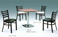 四條背餐椅、梯形造型餐椅、黑腳餐椅、時尚咖啡餐椅
