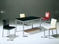 餐桌椅、餐椅、餐桌、钢管家具、餐厅家具