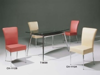 Dining table, Dining chair, Glass table, Tube furniture, Dining furniture