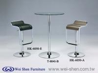 Wood Bar stool, Glass Bar Table, Swivel Barstools,Bar furniture, Tube furniture