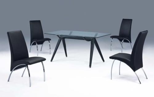 餐桌椅、餐椅、餐桌、玻璃桌、鋼管家具、餐廳家具
