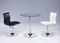 旋轉餐桌椅、餐椅、餐桌、玻璃桌、鋼管家具、餐廳家具