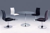 旋转餐桌椅、餐椅、餐桌、玻璃桌、钢管家具、餐厅家具