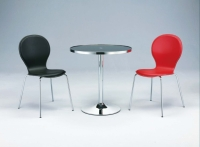 Dining table, Dining chair, Glass table, Tube furniture, Dining furniture, Hard PVC Leather Chair