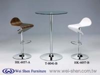 Swivel Bar stool,Wood Bar stools, Bar table, Glass table