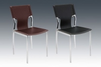 Dining chair, Tube furniture, Dining furniture, Hard PVC Leather Chair