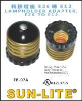 LAMPHOLDER ADAPTER, E26 TO E12