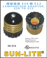 LAMPHOLDER ADAPTER, E26 TO E12