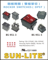 Cens.com ROCKER SWITCHES ( DPST ) SUN-LITE SOCKETS INDUSTRY INC.