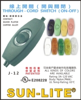 THROUGH - CORD SWITCH (ON-OFF) TURN KNOB MULTIPLEXOR SWITCHES