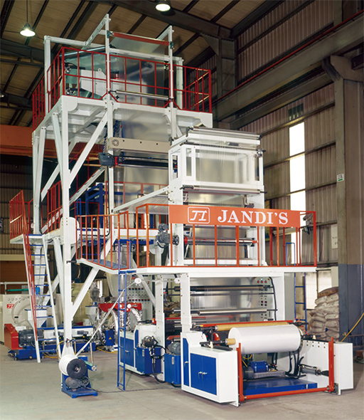 3 Layer Co-Extrusion Inflation Machine