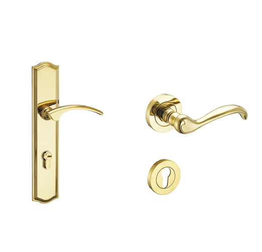 Forged Brass Lever Trims for mortise locksets