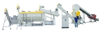 Waste plastic washing & crushing line