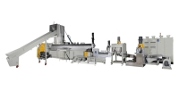 3-in-1 Plastics waste recycling machine