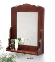 木製壁鏡/木製衛浴用鏡
