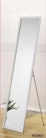 Aluminum-framed Dressing Mirror w/Shoe Rack