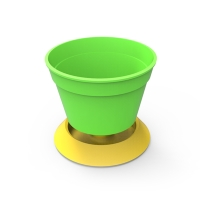 2 in 1 Colorful Garden Pot with Saucer