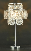 Chrome and octagonal beads Table lamp