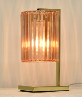 Gold plated with Champagne color Acrylic prism Table lamp