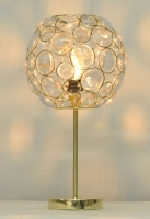 Polished brass and Clear bead Table lamp