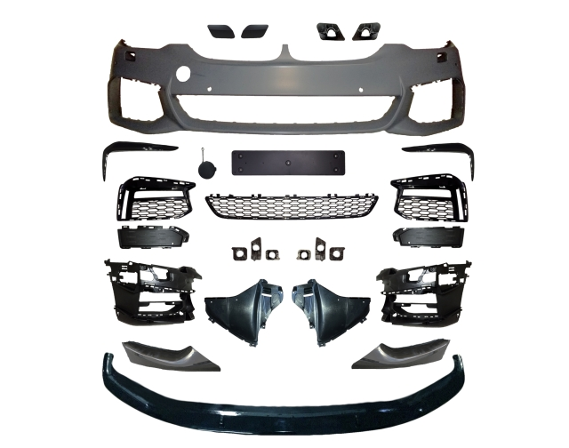 front bumper and grille