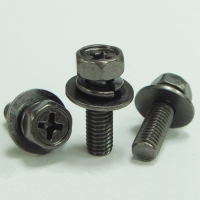 Hex Head Phillip Recess Machine Screw with Spring and Flat Washer