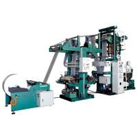 In-line 2 Color Printing Machine With Extruder