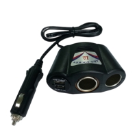Auto Socket With USB Adapter
