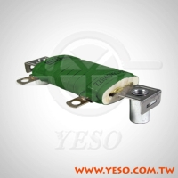 ZZR Flat Ceramic Form, Set-Type, Wire-Wound Resistor