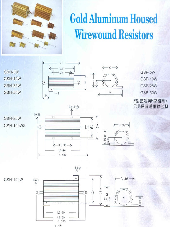 Aluminum-Clad Wire-Wound Resistor