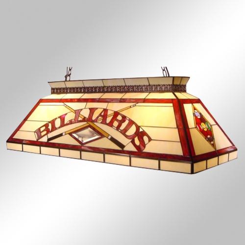 彩色玻璃撞球檯吊燈