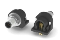 M5 WATER RESISTANCE MALE CONNECTOR PANEL MOUNT RIGHT ANGLE