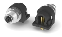M5 WATER RESISTANCE FEMALE CONNECTOR PANEL MOUNT RIGHT ANGLE