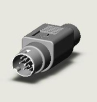MINI DIN CABLE PLUG ASSEMBLY TYPE