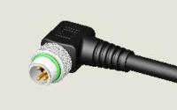 M8 4P PLUG WATER RESISTANCE R/A PUR CABLE ASS`Y