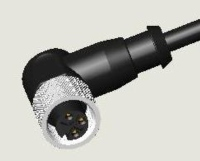 M12 3P JACK WATER RESISTANCE R/A PUR CABLE ASS`Y