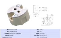 Plug-in quartz halogen sockets