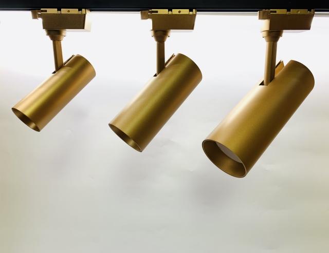 7W 12W 20W 金色 直筒型COB轨道灯