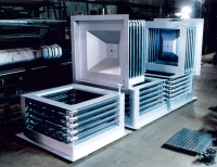 Heat exchanger for paint ovens