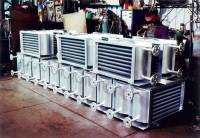 Plate-covered heat exchanger