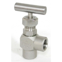 Stainless Steel Angle Type Needle Valve (T-Handle)