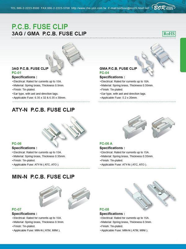 ATY-N P.C.B. FUSE CLIP
