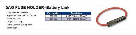 5AG FUSE HOLDER–Battery Link