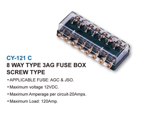 3AG FUSE BOX-SCREW TYPE-8 WAY TYPE 3AG FUSE BOX SCREW TYPE