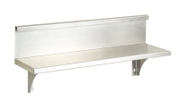 A950BK S/S SHELF W/ BACK