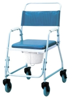 A8001-w DELUXE ALUMINUM SHOWER COMMODE