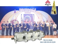 Cens.com MULTI STAGE PUMP-SA3 Triplex pump + SA1 series for KOMATSU HUNG RONG COMMUNICATION MECHANISM CO., LTD.